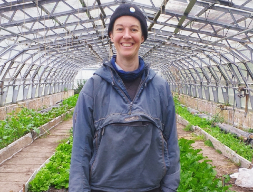 Beth Stewart organic grower