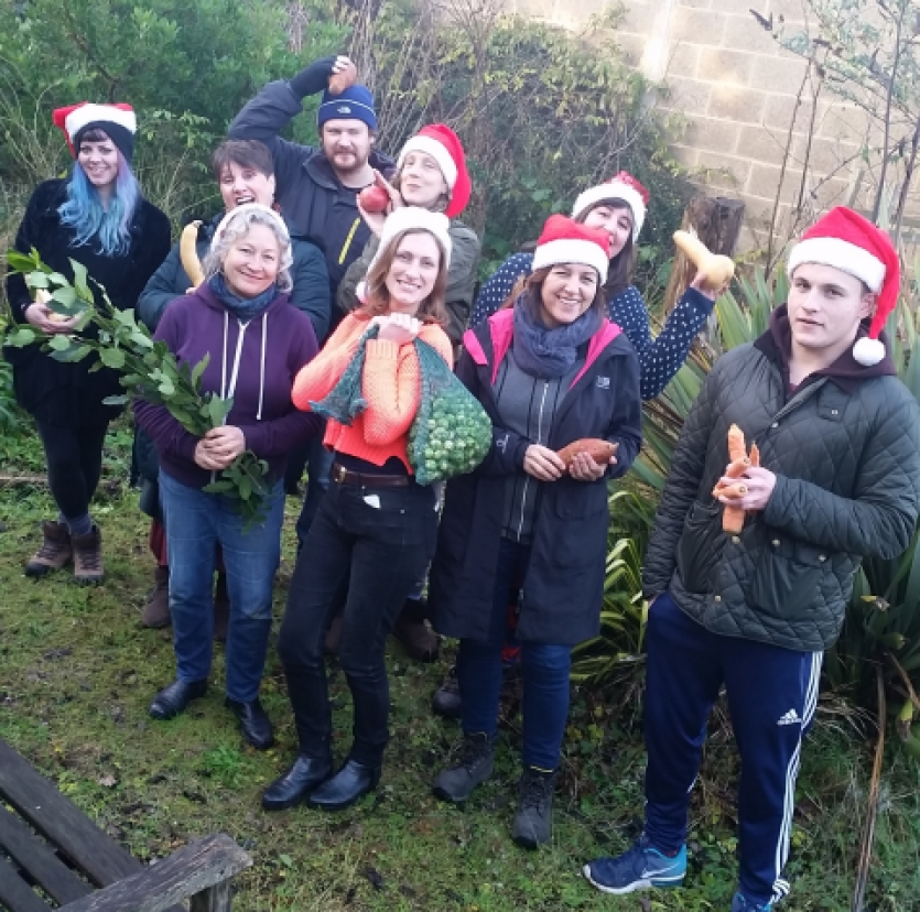 Crop Drop Christmas team organic veg box Haringey