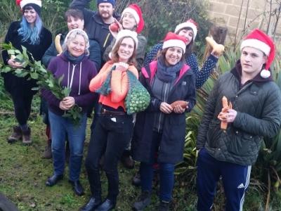 Crop Drop Christmas team organic veg box Haringey