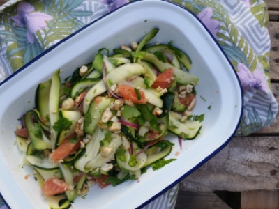 courgette grapefruit salad