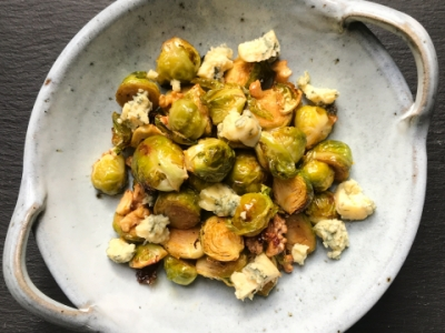 Brussels sprouts maple syrup walnuts orange & stilton