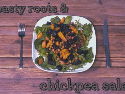 Roasted carrot beetroot salad