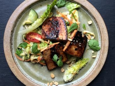 Asian smoked tofu and marrow salad