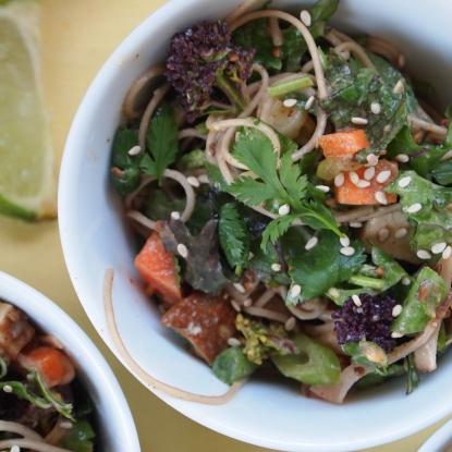 soba peanut noodle salad