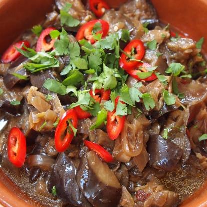 Spicy aubergein hotpot