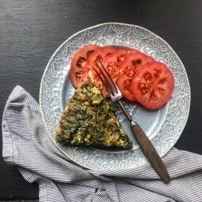 chard herb feta frittata