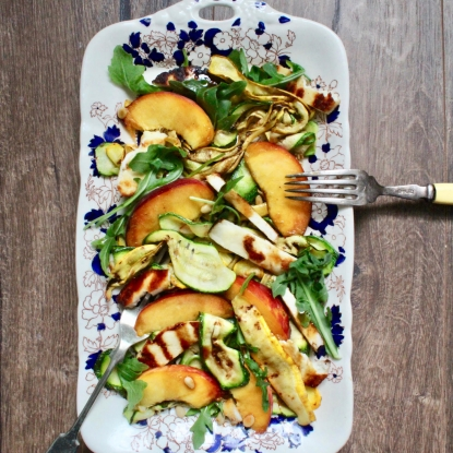 courgette peach salad