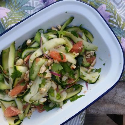 courgette grapefruit salad