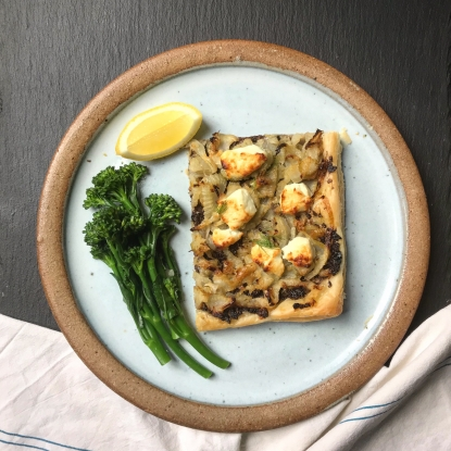 fennel goats cheese tart olive tapenade recipe