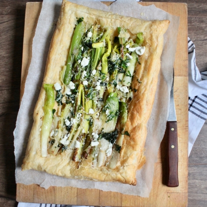 leek cheese pie tart