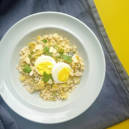leek and cauliflower rice