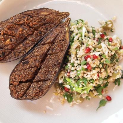 moroccan spiced aubergine recipe
