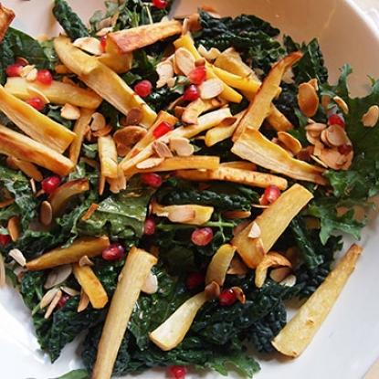 Caramelized Parsnip and Kale Salad