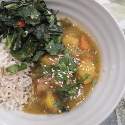 squash coconut curry