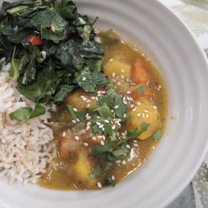 squash coconut curry