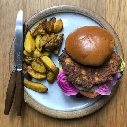 Spiced swede burger Alan Rosenthal
