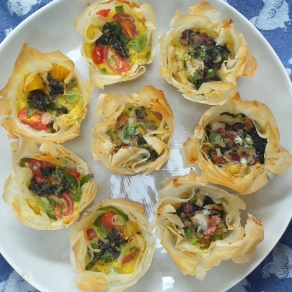 mini filo tarts