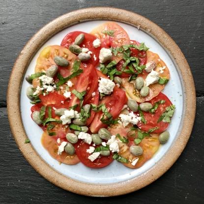 heritage tomatoes borlotti bean salad recipe