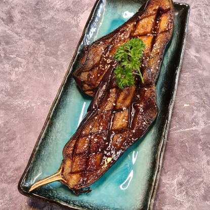 BBQ Glazed Roasted Aubergine