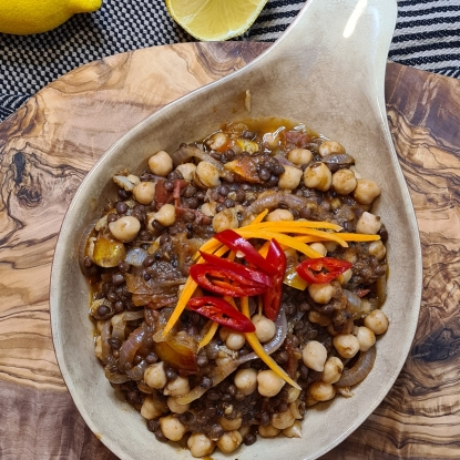 Black Beluga Lentil & Chickpea Curry