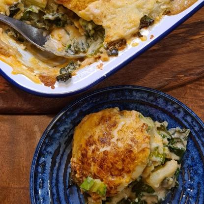Courgette and Cavolo Nero Potato Bake