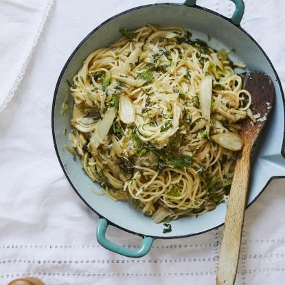 lemon mint fennel spaghetti alan rosenthal