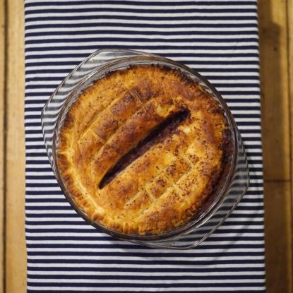 vegan squash lentil pie