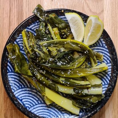 sautéed brassica leaves