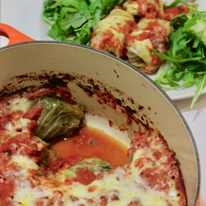 baked stuffed cabbage leaves