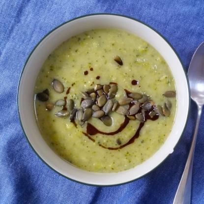 broccoli celeriac soup vegan