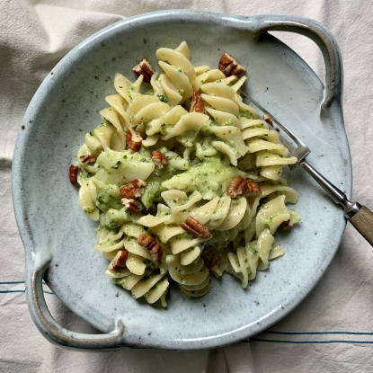 broccoli blue cheese roquefort pasta