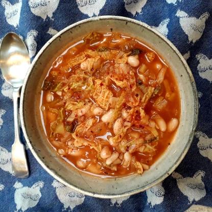 cabbage white bean soup