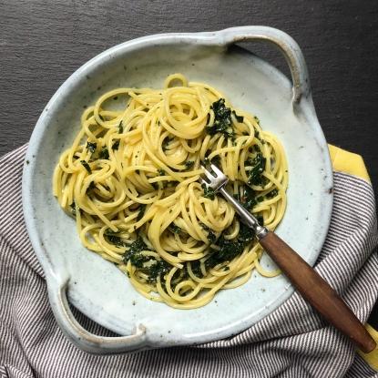 spaghetti with cavelo nero