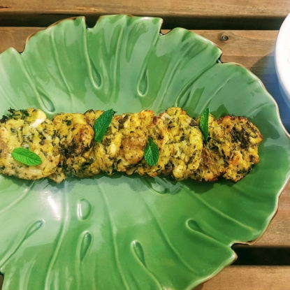courgette new potato fritters