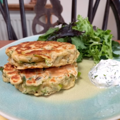 courgette leek fritters