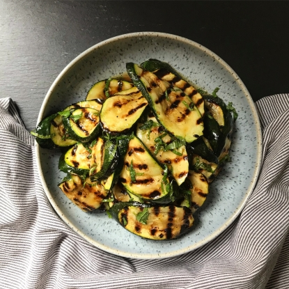 chargrilled courgettes mint lemon recipe alan rosenthal