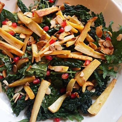 Caramelized Parsnip and Kale Salad