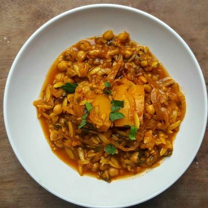 Moroccan Chickpea & Squash Stew